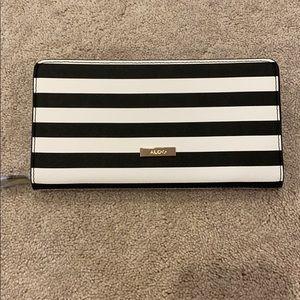 Aldo Black & White Striped Wallet